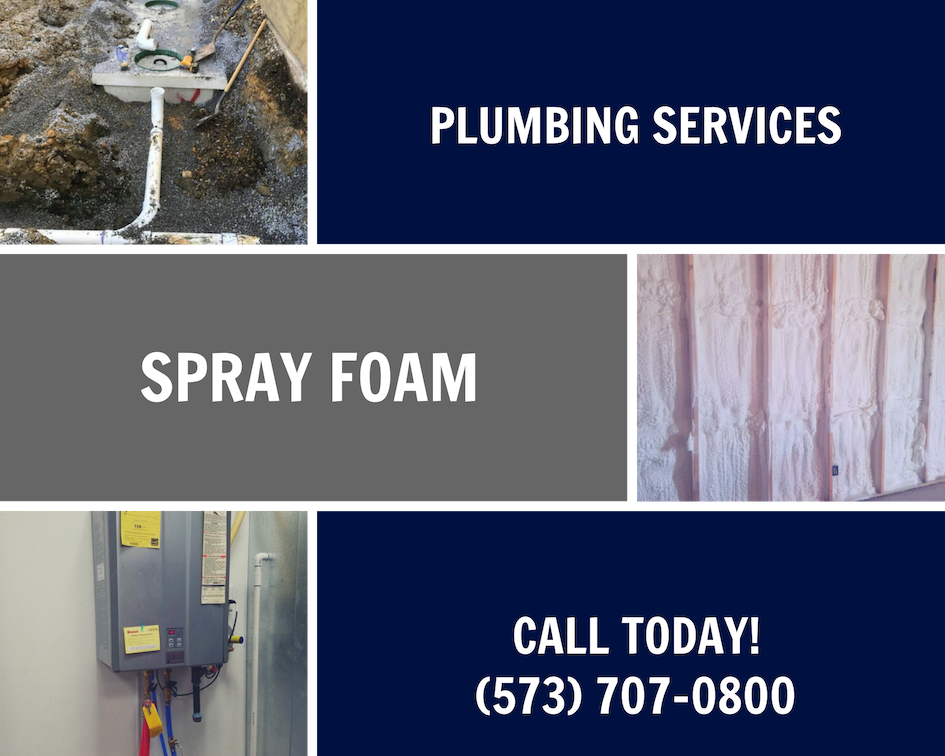 Plumbing, spray foam insulation and heating and air services!